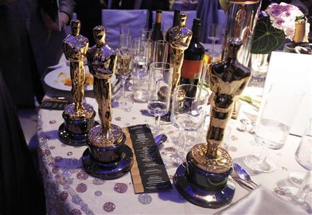 Oscar award statues won by the film